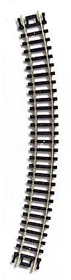 Atlas Code 80 11 Radius (6) -- N Scale Nickel Silver Model Train Track -- #2520