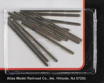 Atlas Code 80 Rail Joiners (48) -- N Scale Nickel Silver Model Train Track -- #2535