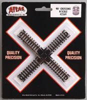 Atlas Code 80 90 Degree Crossing N Scale Nickel Silver Model Train Track #2569
