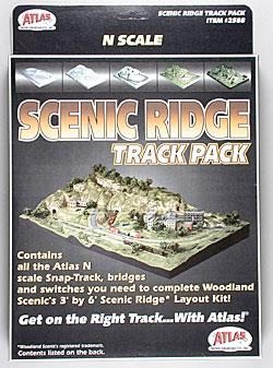 Atlas Code 80 Scenic Ridge Track Pack (for WOOU0482) N Scale Nickel Silver Model Train Track #2588