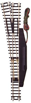 Atlas Code 80 #6 Switch Remote LH Black -- N Scale Nickel Silver Model Train Track -- #2704