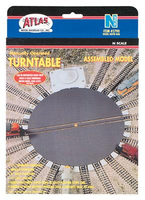 Atlas Turntable -- N Scale Nickel Silver Model Train Track -- #2790