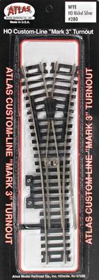 Atlas Code 100 Wye Turnout N/S MK4 HO Scale Nickel Silver Model Train Track #280