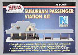 Atlas Suburban Passenger Station Kit -- N Scale Model Railroad Building -- #2841