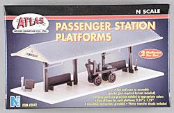 Atlas Passenger Station Platform Kit (2) -- N Scale Model Railroad Trackside Accessory -- #2842