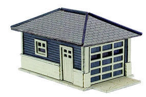 Atlas Barbs Bungalow Garage Wooden Kit (2) N Scale Model Railroad Building #2860