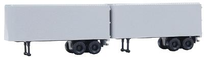 Atlas 24 Trailer - 2-Pack - Undecorated N Scale Model Railroad Vehicles #2930