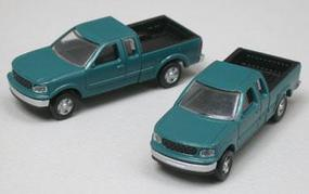 Atlas American Trucks - Ford F-150 Standard Side Pickup -2-Pack Pacific Green - N-Scale (2)