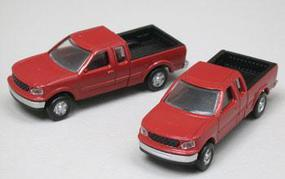 Atlas American Trucks - Ford F-150 Standard Side Pickup - 2-Pack Dark Red - N-Scale (2)