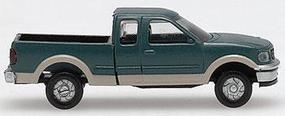 Atlas American Trucks - Ford F-150 Pickup w/Two-Tone Paint - Package of 2 Green & Tan - N-Scale