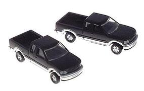 Atlas American Trucks - Ford F-150 Pickup w/Two-Tone Paint - 2-Pack Black & Silver - N-Scale (2)