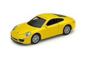 Atlas Porsche 911 Carrera S Yellow HO Scale Model Railroad Roadway Vehicle #30000096