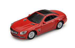 Atlas Mercedes Benz SL 500 Red HO Scale Model Railroad Roadway Vehicle #30000098