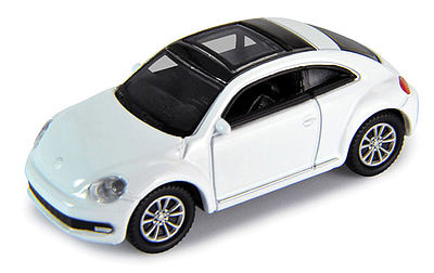 Atlas VW Beetle white -- HO Scale Model Railroad Vehicle -- #30000100