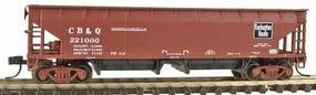 Atlas 70-Ton Hart Ballast Car Burlington N Scale Model Train Freight Car #34777