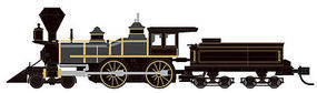 Atlas 4-4-0 Locomotive Unlettered N Scale Model Train Steam Locomotive #40000465