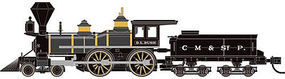 Atlas 4-4-0 American Chicago, Milwaukee & St. Paul N Scale Model Train Steam Locomotive #40002121