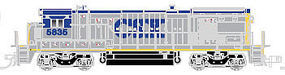 Atlas B36-7 DC CSX #5835 N Scale Model Train Diesel Locomotive #40002399