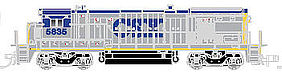 Atlas B36-7 DCC CSX #5835 N Scale Model Train Diesel Locomotive #40002427