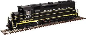 Atlas EMD GP40 Low Nose, Dynamic Brakes w/DCC Seaboard Coast Line #1554 (black, yellow) - N-Scale