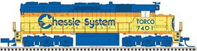 Atlas EMD SD35 Low Nose - Standard DC - Master(R) Silver Chessie System TORCO 7802 (yellow, blue, vermillion) - N-Scale