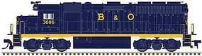 Atlas EMD GP40 Low Nose with Dynamic Brakes - LokSound and DCC - Gold Baltimore & Ohio 3760 (blue, yellow, Sans Serif Lettering) - N-Scale