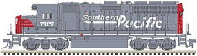 Atlas EMD GP40 Low Nose with Dynamic Brakes - LokSound and DCC - Gold Southern Pacific 7138 (gray, red, Speed Lettering) - N-Scale