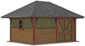 Atlas Section House Kit HO Scale Model Railroad Building #4001009