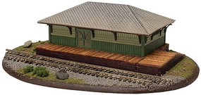 Atlas Freight Station Laser-Cut Wood Kit - 7-1/2 x 4-1/2 x 2-3/4 19.1 x 11.4 x 7cm