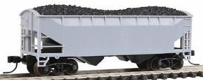 Atlas 2-Bay Offset Side Hopper, Peaked Ends Undecorated N Scale Model Train Freight Car #42200