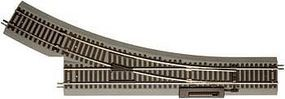 Atlas True-Track 22 Radius Snap-Switch Remote RH HO Scale Nickel Silver Model Train Track #485