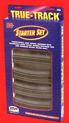 Atlas Code 83 True-Track Starter Set -- HO Scale Nickel Silver Model Train Track -- #488
