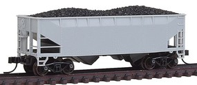 Atlas 2-Bay Offset Hopper Undecorated N Scale Model Train Freight Car #50001180