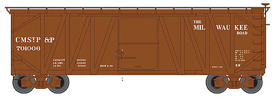 Atlas USRA Single-Sheathed Wood Boxcar Milwaukee Road -- N Scale Model Train Freight Car -- #50001255
