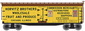 Atlas 40 Wood Reefer Horvitz Brothers NWX#14404 N Scale Model Train Freight Car #50001263
