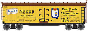 40' Wood Reefer Nucoa Products URTC #40680 N Scale Model Train Freight Car #50001267