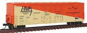 Atlas Evans 53 Double Plug-Door Boxcar Plywood Marketing N Scale Model Train Freight Car #50001405