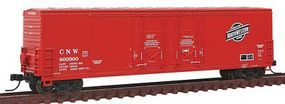 Atlas 53 Double Plug-Door Boxcar Chicago & North Western N Scale Model Train Freight Car #50001407