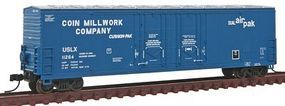 Atlas 53 Double Plug-Door Boxcar Coin Millwork #11264 N Scale Model Train Freight Car #50001410