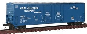 Atlas 53 Double Plug-Door Boxcar Coin Millwork #11273 N Scale Model Train Freight Car #50001412