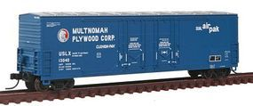 Atlas Evans 53 Double Plug-Door Boxcar Multnomah Plywood N Scale Model Train Freight Car #50001415