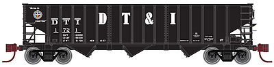Atlas PS-2750 3-Bay Hopper Detroit, Toledo & Ironton -- N Scale Model Train Freight Car -- #50001668