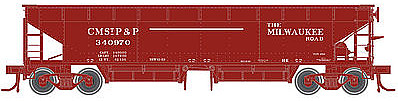 Atlas 70-Ton Hart Ballast Car Milwaukee Road #340857 ( -- N Scale Model Train Freight Car -- #50001702