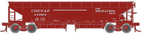 Atlas 70-Ton Hart Ballast Car Milwaukee Road #340857 ( N Scale Model Train Freight Car #50001702