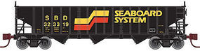 Atlas 2960 3-Bay Hopper Seaboard System #323319 N Scale Model Train Freight Car #50001982