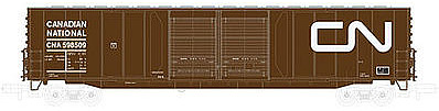 Atlas 60' Double-Door Auto Parts Boxcar Canadian National -- N Scale Model Train Freight Car -- #50001994