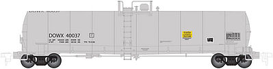 Atlas 23,500 Tank Car Dow #40037 -- N Scale Model Train Freight Car -- #50002073