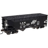 Atlas 2 Bay Offset Hopper L&M #1001 N Scale Model Train Freight Car #50002157