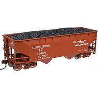 Atlas 2 Bay Offset Hopper Illinois Central #69454 N Scale Model Train Freight Car #50002160