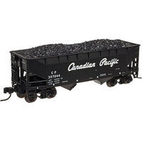 Atlas 2 Bay Offset Hopper Canadian Pacific #357142 N Scale Model Train Freight Car #50002170
